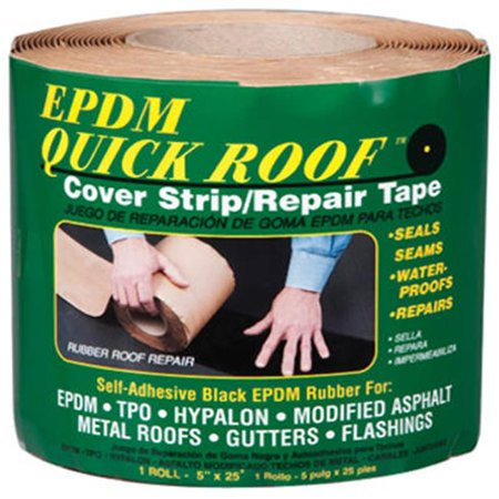 Roof Strip - Quick Roof™ BRQR525 Self Adhesive EPDM Rubber Cover Strip, 5