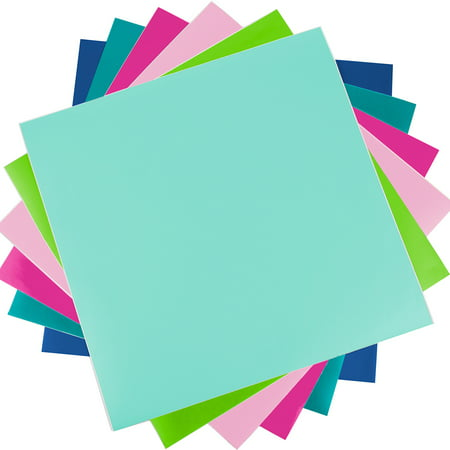"Silhouette Vinyl Sampler Pack 12""X12"" 6/Pkg (on A Roll)-Lt Grn, Mint, Lt Pnk, Dk Pnk, Teal, Navy"