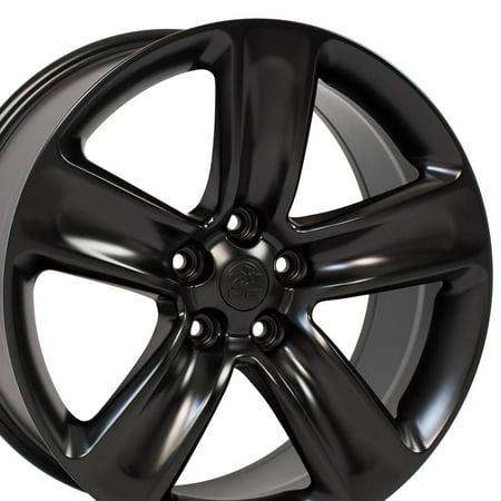 20x9 Wheel Fits Jeep, Dodge SUVs - Jeep Grand Cherokee SRT Style Satin Black