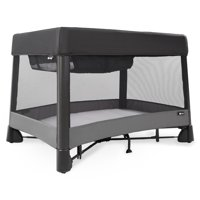 4moms breeze plus portable playard with bassinet, black