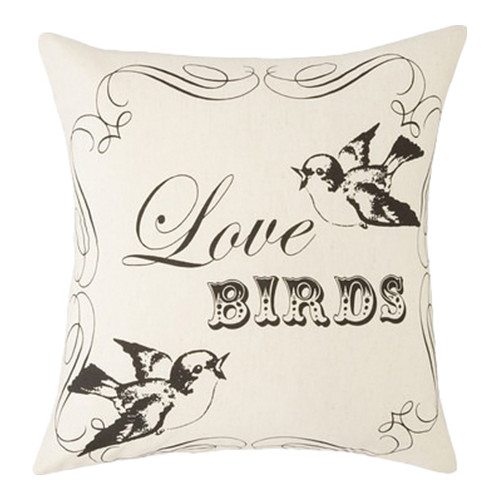 Amity Home Love Birds Wool Throw Pillow
