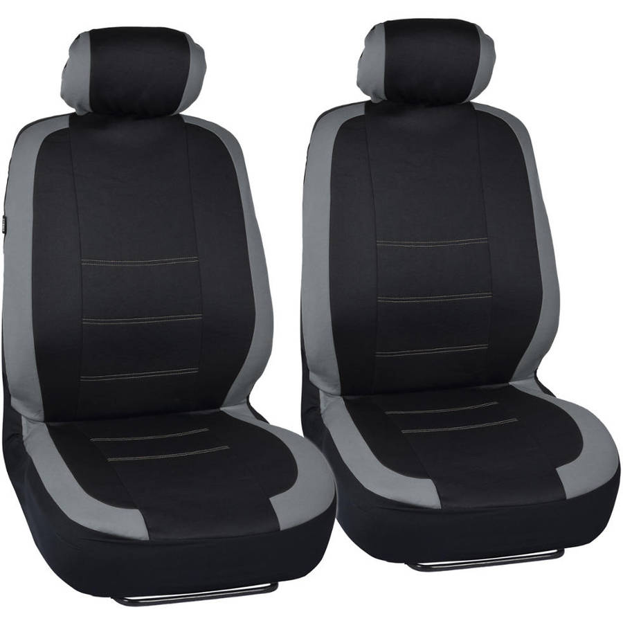 Two Tone Black Universal Split Bench Car Seat Covers for Front /& Rear Beige