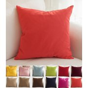 Dilwe Pure Square Decorative Throw Pillows Case Cushion Covers Shell 45cm x 45cm