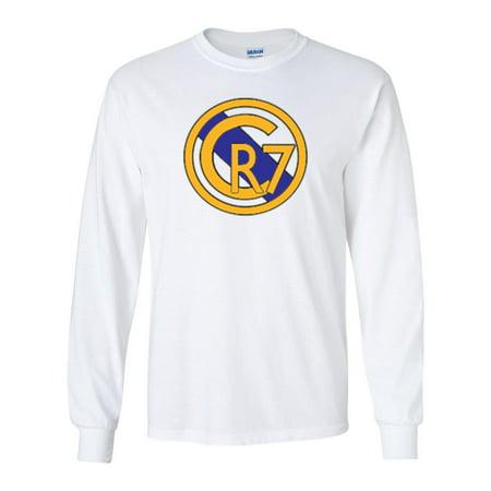 LONG SLEEVE Shedd Shirts White Cristiano Ronaldo Real Madrid