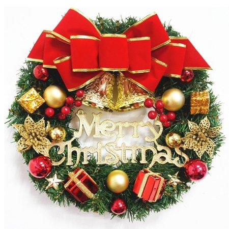 UK Wreath Window Christmas Door Decoration Hanging Ornament Tree Garland Bell ()
