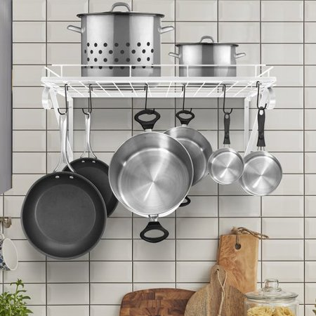 Rebrilliant Kitchen Wall Mounted Pot Rack