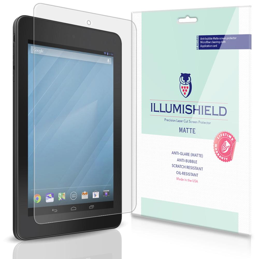 iLLumiShield Matte Screen Protector w Anti-Glare/Print 3x for Dell Venue 7