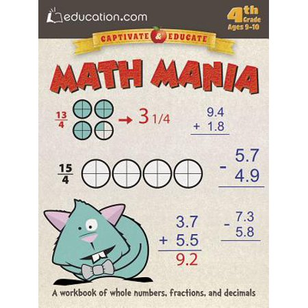 Math Mania : A Workbook of Whole Numbers, Fractions, and - Halloween Math Fractions