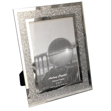 Crystal Heirloom Frame (Amlong Crystal Sparkle Mirror Glass Picture Frames 5 x 7)