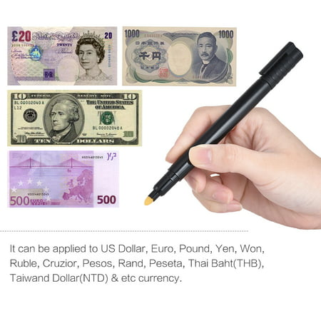 Counterfeit Money Detector Pen Fake Banknote Tester Currency Cash Checker Marker for US Dollar Bill Euro Pound Yen
