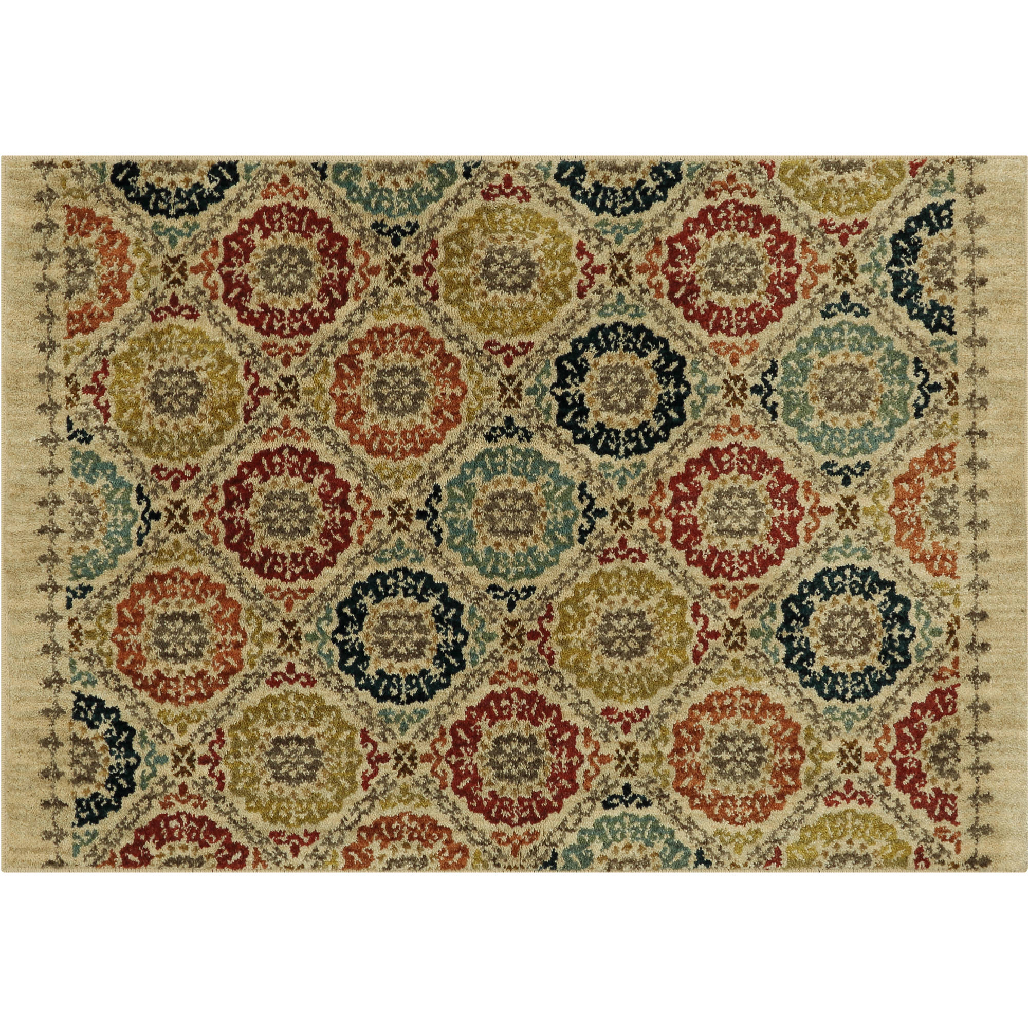 Cheap Mohawk Home Lifeguard Floral Medallion Accent Rug ...