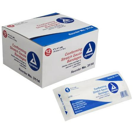 Dynarex Conforming Stretch Gauze Bandage Sterile #3114 4