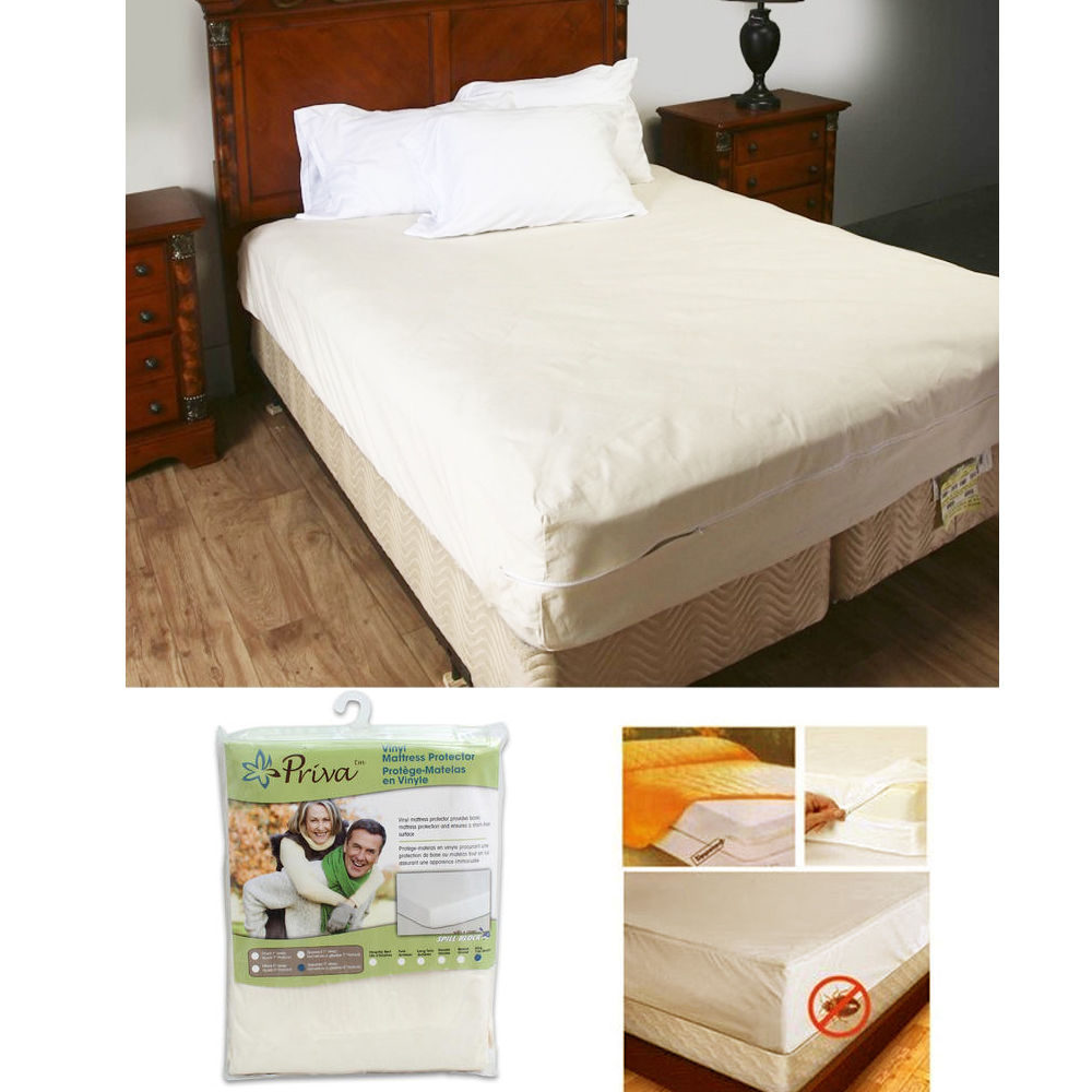 king size vinyl zippered mattress cover protector dust bug a