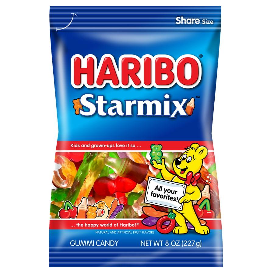 (4 Pack) Haribo, Starmix Gummi Candy, 8 Oz