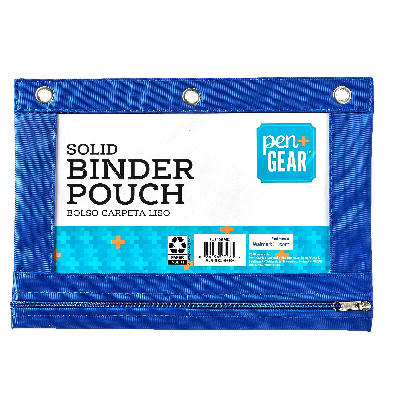 Pen + Gear Solid Binder Pouch, Blue