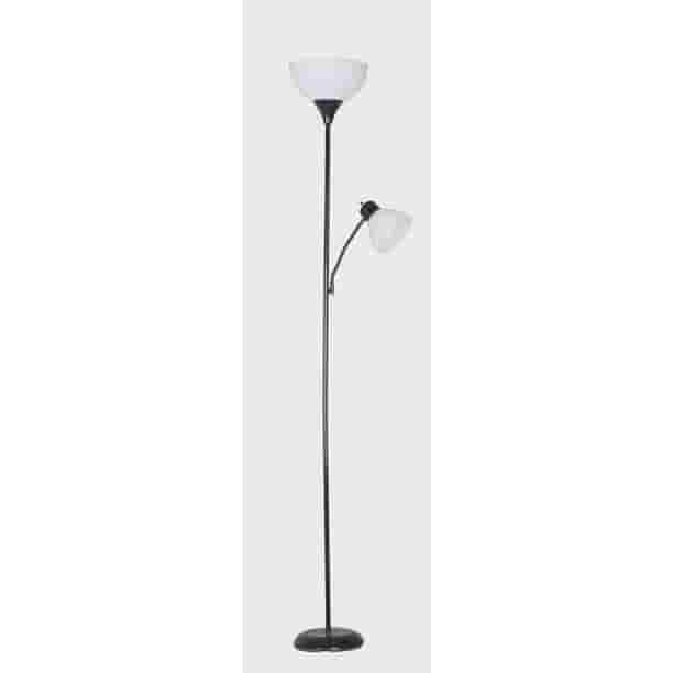 Mainstays 72 Combo Floor Lamp With Adjustable Reading Lamp Black Walmart Com Walmart Com