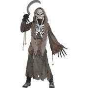 Shrieking Grim Reaper Halloween Costume for Boys, Large, with Included Accessories, by Amscan