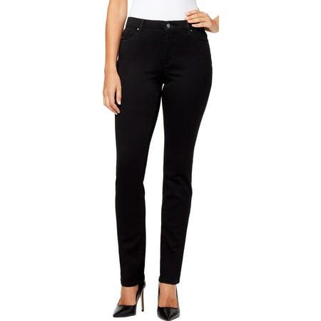 Gloria Vanderbilt Womens Sadie Solid Slim Leg Jeans 16W