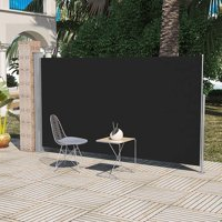 Terrace Terrace Side Awning Black