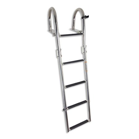 - SSL-BCK-T3L - 5 Step Rear Entry Stainless Steel Boat Ladder