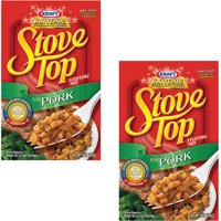 (2 Pack) Kraft Stove Top Stuffing Mix for Pork, 6 oz Box
