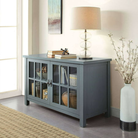 "Better Homes & Gardens Oxford Square TV Stand for TVs up to 55"", Blue"