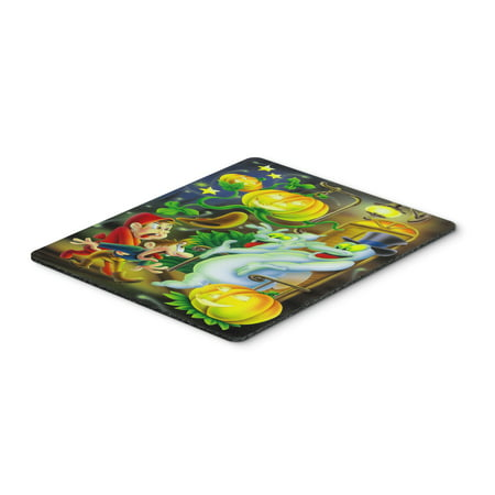 Scary Ghosts and Halloween Trick or Treaters Mouse Pad, Hot Pad or Trivet APH0933MP - Scaring Trick Or Treaters