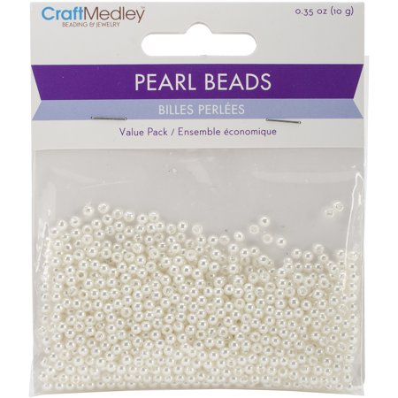 Pearl Beads Value Pack-3mm Ivory 850/Pkg