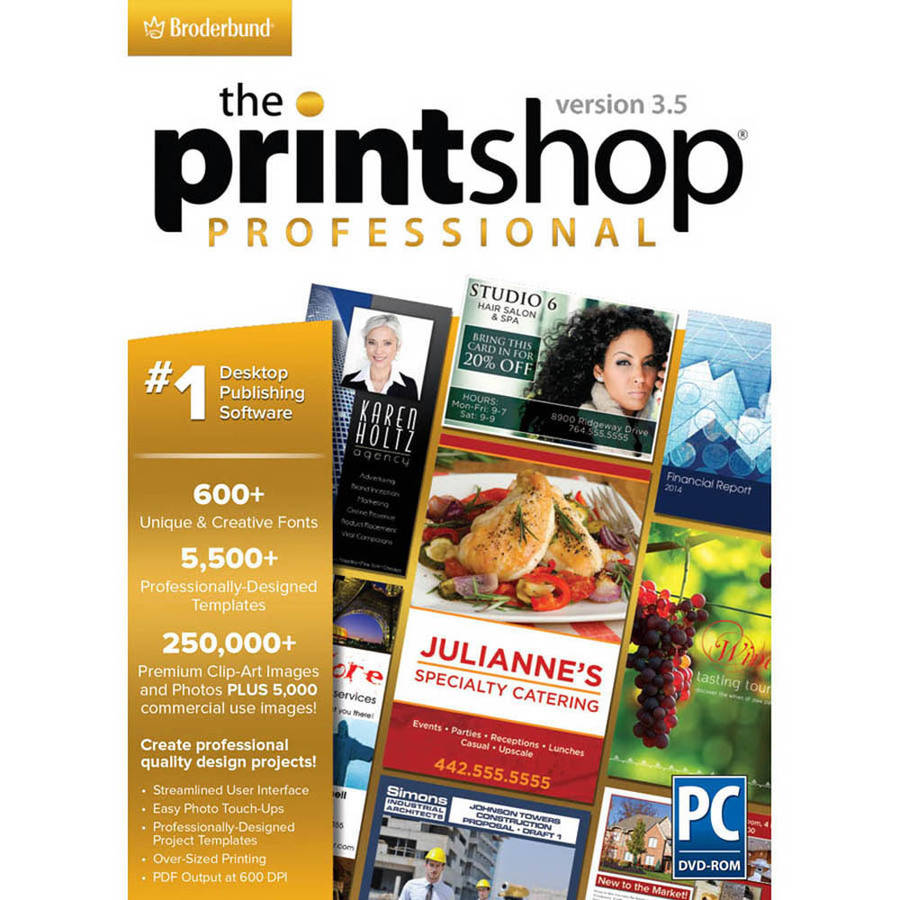 Encore Software LIC3644 Print Shop 3.5 Pro (Digital Code)