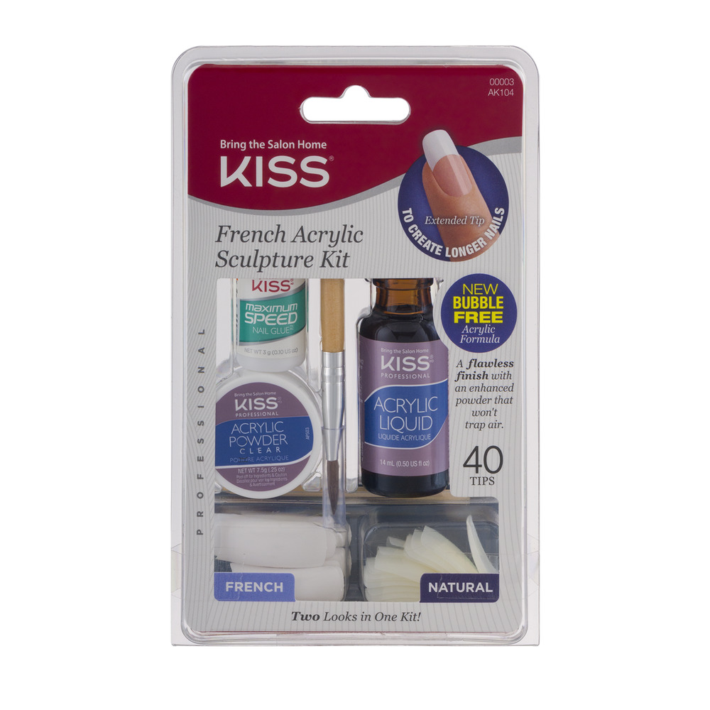 Kiss French Acrylic Sculpture Kit, 1.0 KIT