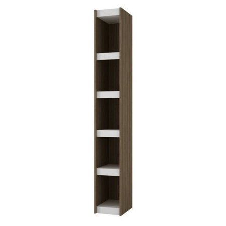 Bowery Hill 10   5 Shelf Bookcase In Oak And White