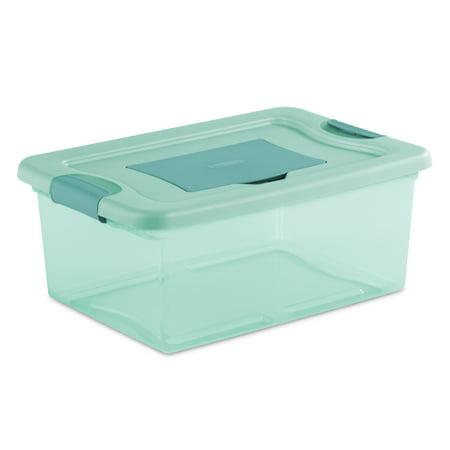 Aqua Box Device Holder (Sterilite, 15 Qt./14 L Fresh Scent Box, Aqua Tint (Available in a Case of 10 or Single Unit) )