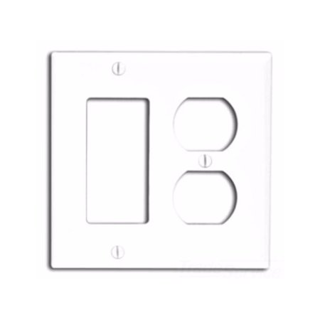 Ivory Hd15 Wall Plate (Leviton 80746-I 2-Gang 1-Duplex 1-Decora/GFCI Device Combination Wallplate, Standard Size, Thermoplastic Nylon, Ivory)