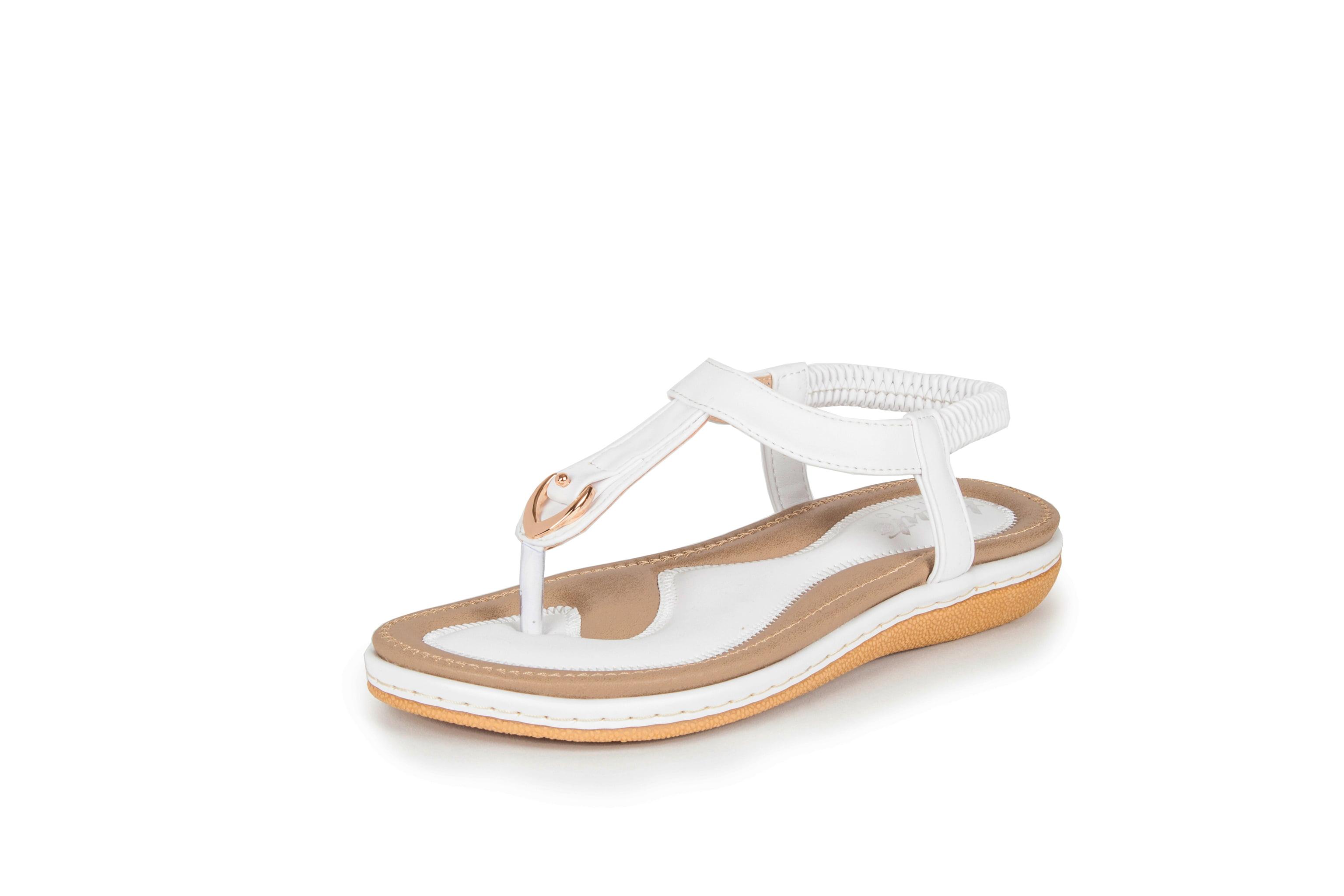 JAGENIE Summer Soft Women Wedge Sandals Thong Flip Flops Platform Slippers Beach Black 36