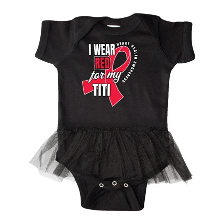 Heart HeaIth Awareness Wear Red for my Titi Infant Tutu Bodysuit