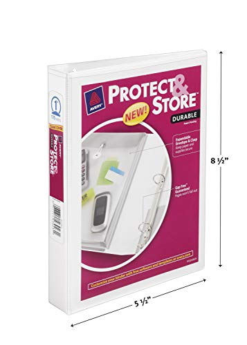"""AVERY PROTECT /& STORE BINDER 5.5/"""" X 8.5/"""" BLUE"""