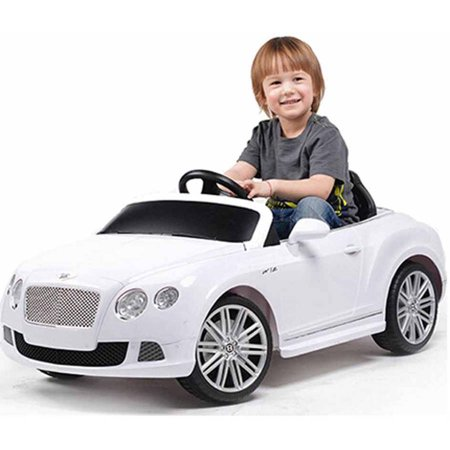 Rastar Bentley Gtc Remote Controlled 12V Battery Powered Ride On Car  White