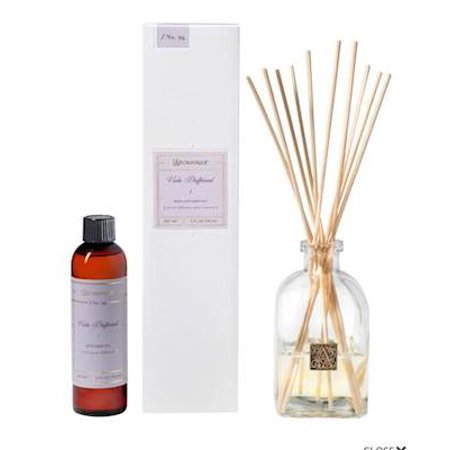 VIOLA DRIFTWOOD Aromatique Reed Diffuser Gift Set Square Glass Bottle with Medallion Glass Diffuser Trim