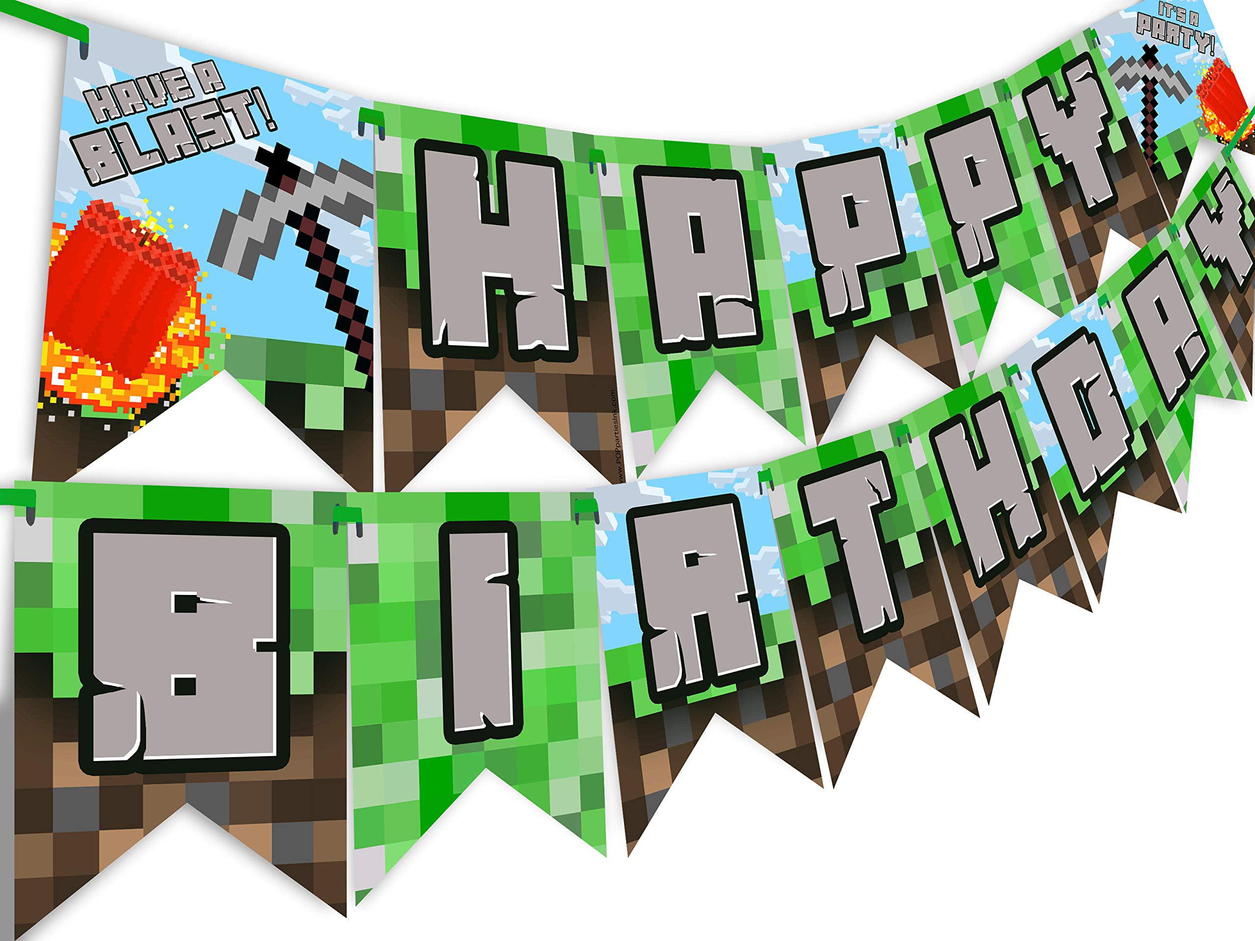 Pixel Party Happy Birthday Banner - Made in the USA - Blast - Walmart.com - Walmart.com
