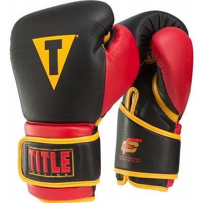 Title Foam Channel Technology Training Gloves Black/Red/Gold 18 oz