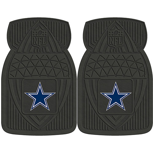 NFL 2-Piece Heavy-Duty Vinyl Car Mat Set, Dallas Cowboys