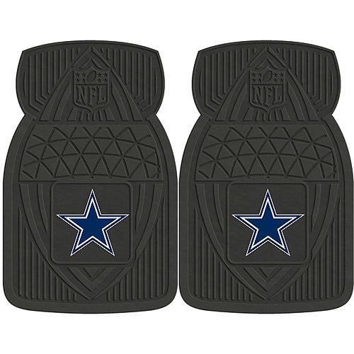 NFL 2-Piece Heavy-Duty Vinyl Car Mat Set, Dallas Cowboys - SPORTS LICENSING SOLUTIONS
