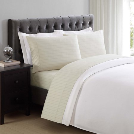 310 Thread Count Cotton Classic Stripe Almond Milk Standard Pillowcases by Charisma