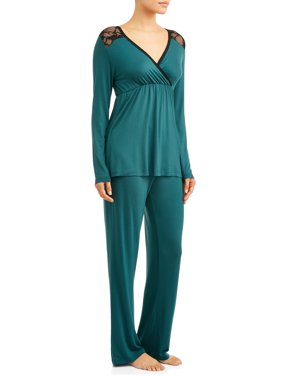 Maternity Nurture By Lamaze Nursing Long Sleeve Top and Pants Sleep Set (Available in Multiple Colors)