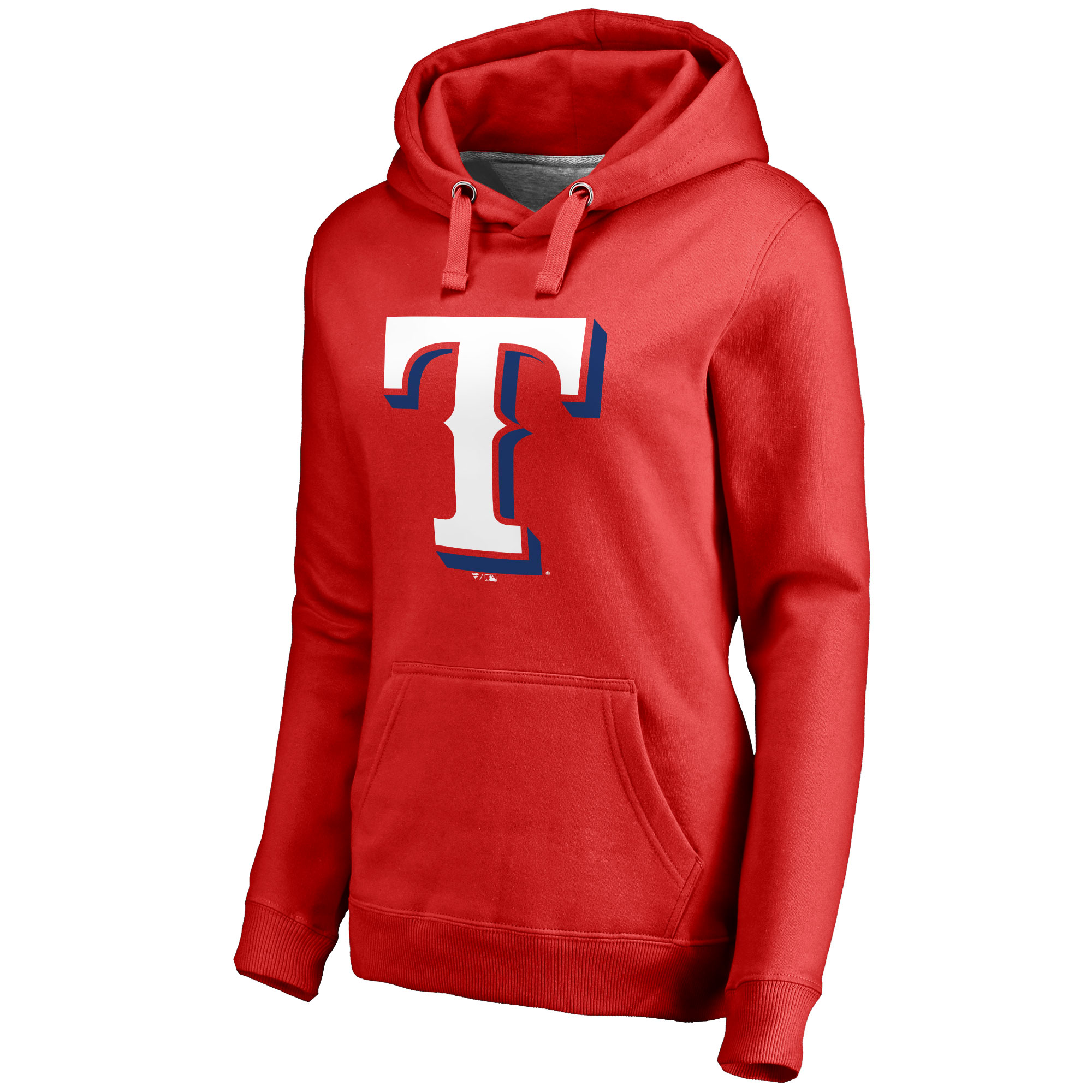Texas Rangers Women's Secondary Color Primary Logo Pullover Hoodie - Red
