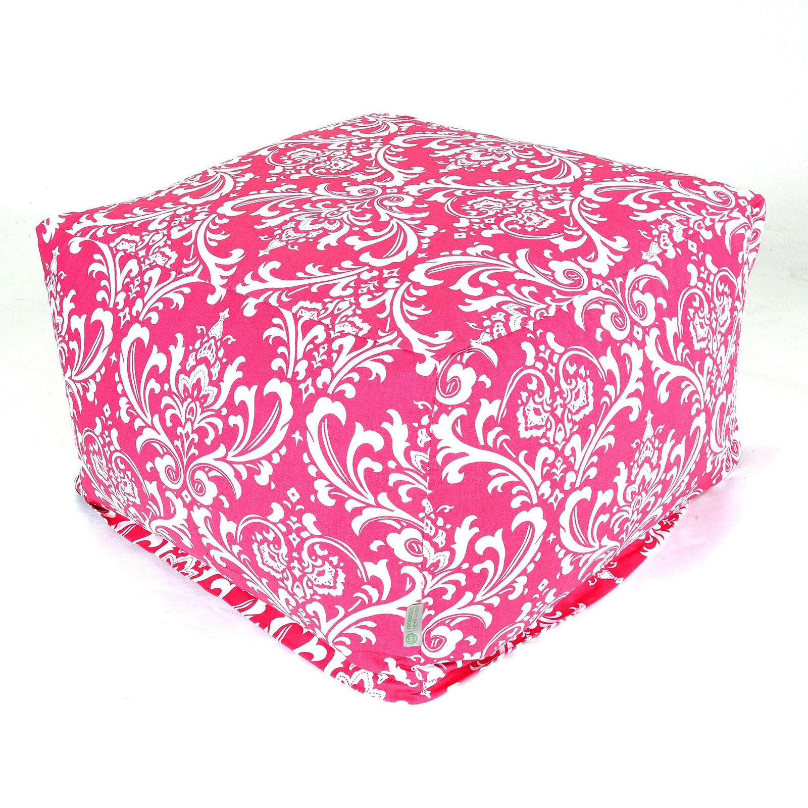Majestic Home Goods Hot Pink French Quarter Bean Bag Ottoman