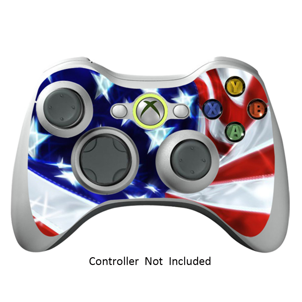 Skin Stickers for Xbox 360 Controller - Vinyl Leather Texture Sticker for X360 Slim Wired Wireless Game Controllers - Protectors Stickers Controller - Star&Strips