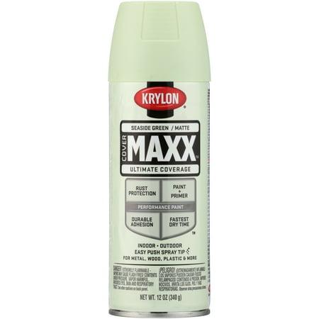 Krylon® CoverMaxx™ Matte Seaside Green Ultimate Coverage Spray Paint 12 oz. Aerosol Can