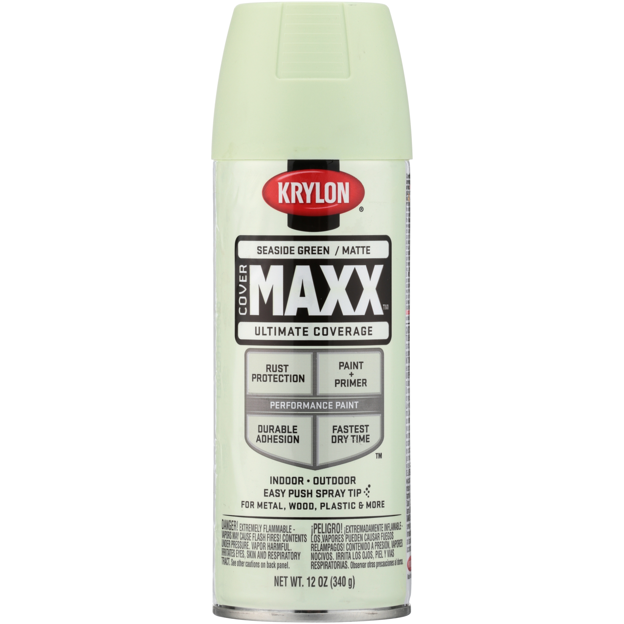 Krylon® CoverMaxx™ Matte Seaside Green Ultimate Coverage Spray Paint 12 oz. Aerosol Can