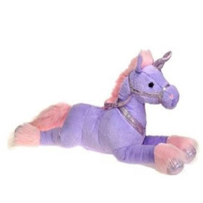 Fiesta Toys 33 Plush Laydown Jumbo Unicorn Purple Walmart Com